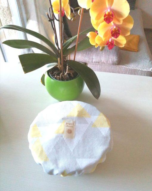 edényfedő sárga-szürke