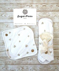mosható betét fehér szivecske